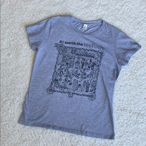 Tops - Voodoo Doughnut Tee Shirt 'Worth The Weight' M